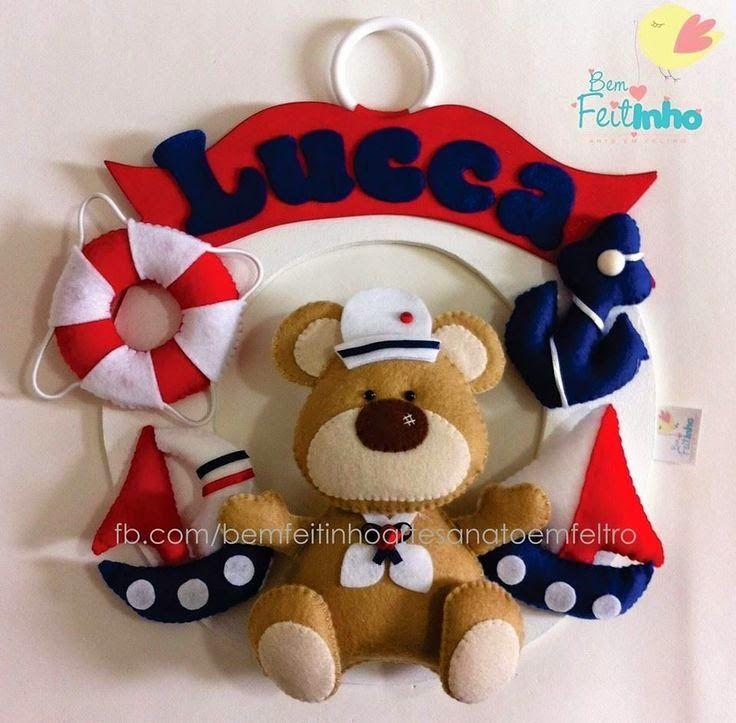Ursinho Marinheiro - Costurando Sonhos