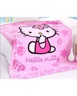 Плед флисовый Hello Kitty розовый Absolut