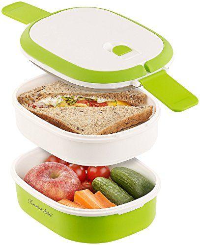 Rosenstein & Söhne Brotdose: Lunchbox mit 2 Etagen und Tragegriff, Clip-Deckel, BPA-frei, 700 ml (Dose) #Rosenstein #Söhne #Brotdose: #Lunchbox #Etagen #Tragegriff, #Clip #Deckel, #frei, #(Dose)