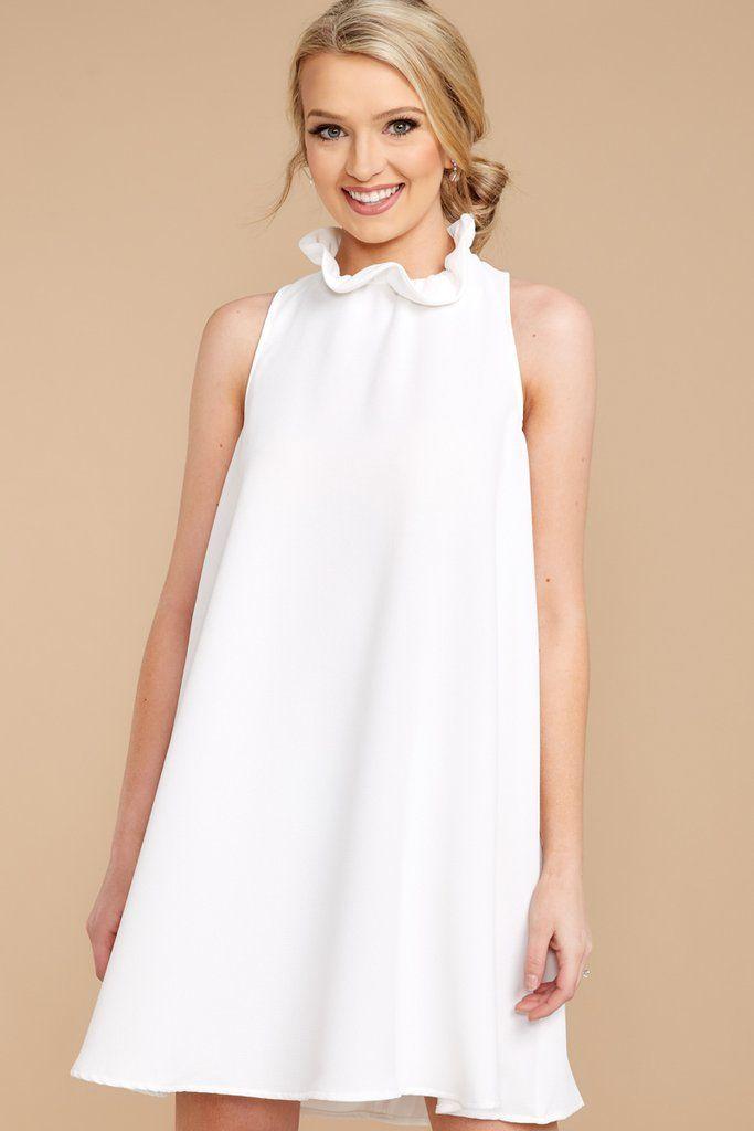 d8127188d4 Chic White Dress - Cute Dress - Dress -  44.00 – Red Dress Boutique