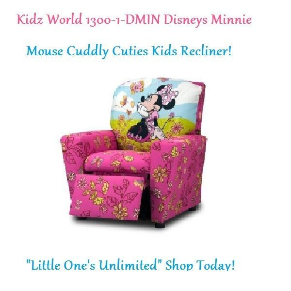 Kidz World Disney Minnie Mouse Cuddly Cuties Kids Recliner-Toddler Recliner NEW  sc 1 st  Pinterest : new recliners - islam-shia.org