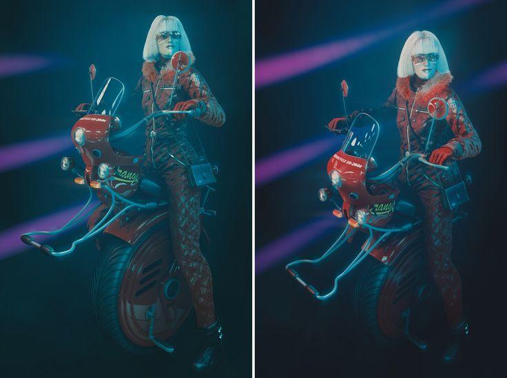 Monocycle girly - Blender 2.79a - Zbrush 4R7 - Photoshop cc