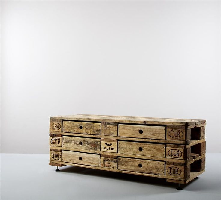 Fancy sideboard made of recycled euro pallets from kimidori - InteriorPark.
