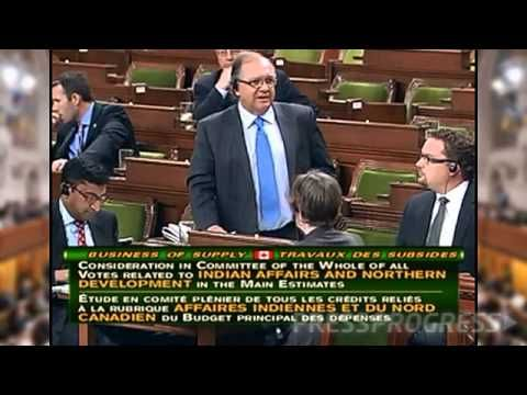 Aboriginal Affairs Minister Bernard Valcourt is heckled after denying that high rates of suicide amoung aboriginal youth is his ministry's responsibility.