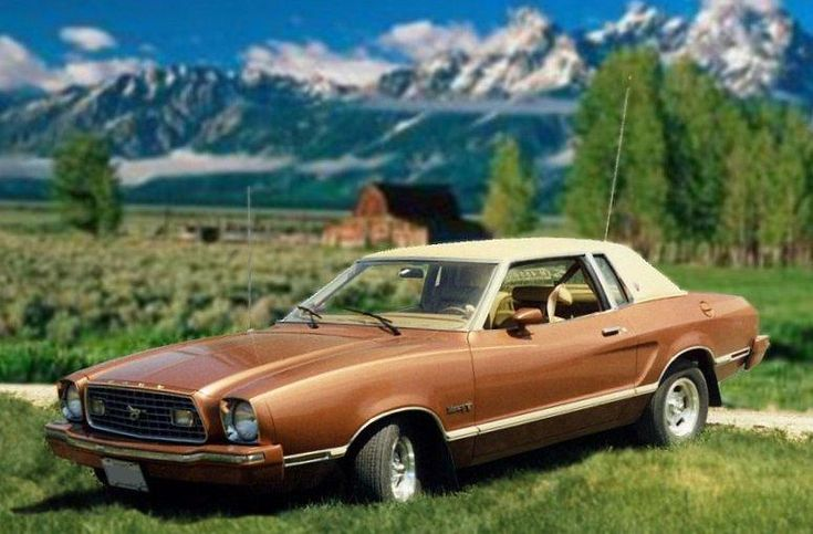 Medium Chestnut 1975 Mustang Ii Ghia Hardtop Mustang Ii Mustang Classic Cars Muscle