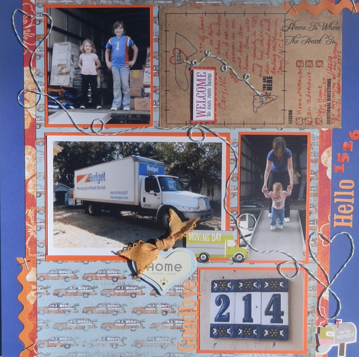 Bright moving day scrapbook layout scrappin 39 pinterest for New home layouts