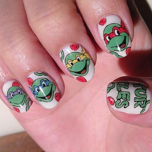 """Teenage Mutant Ninja Turtles""art nails #avarice #kayo #art #nails #nailart #design #nailart #nailsalon #nailsalonavarice #TeenageMutantNinjaTurtles #turtles (NailSalon AVARICE)"