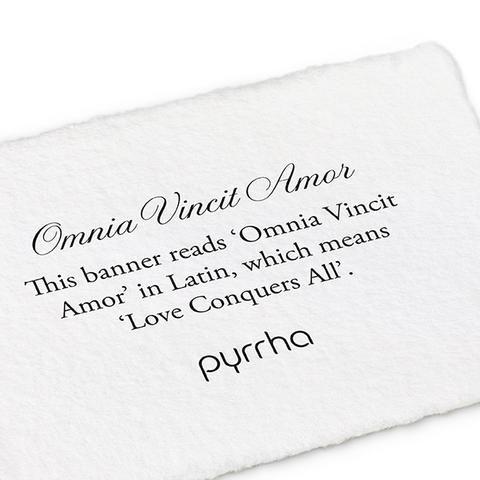 Omnia Vincit Amor Banner Ring - Pyrrha  - 1