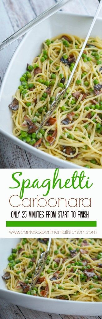 Just a few simple ingredients and this quick and easy, tasty recipe for Spaghetti Carbonara is ready in 25 minutes!