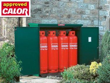 The Asgard Storage for 4x 47kg propane bottles