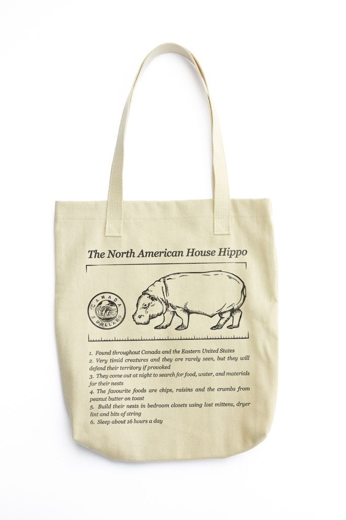 House Hippo Facts Tote - a delightful memory from Canada!