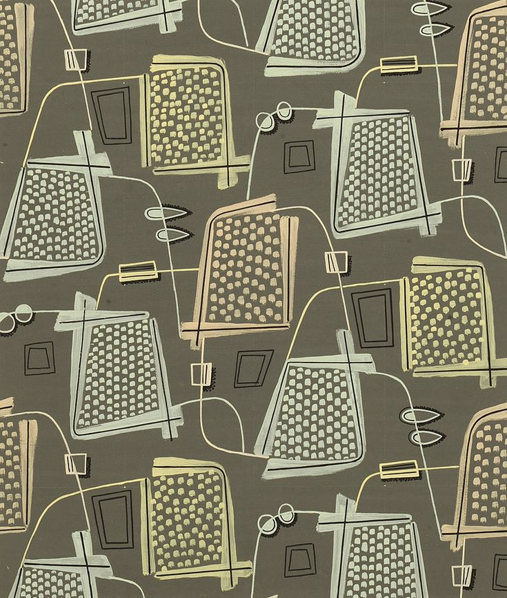 Modernist Textiles | 1950's  Henry Moore - AnotherDesignBlog.