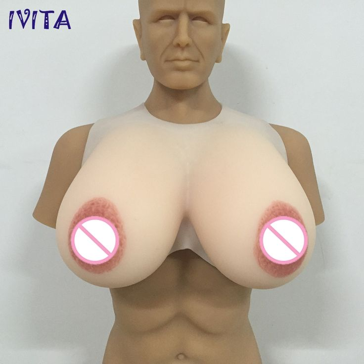 (857.00$)  Buy here - http://aipfp.worlditems.win/all/product.php?id=32802975404 - IVITA 5000g Big Nipples Silicone Breast Forms Areola Fake Boobs With Adhesive Straps Oval Nipple  White Color