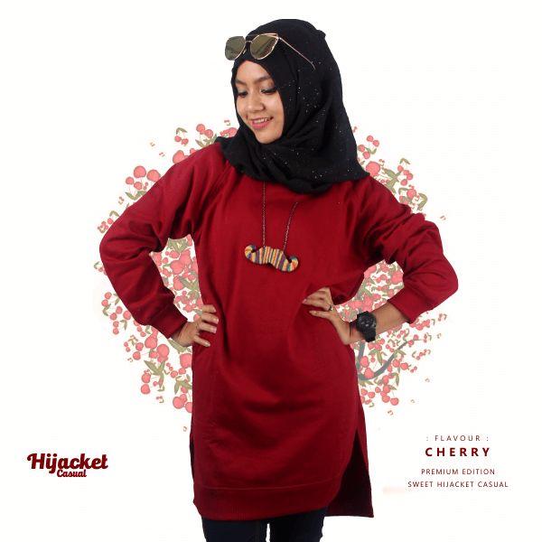 Jaket Sweater Muslimah Cherry