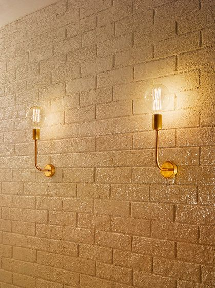 General lighting-Wall lights in brass-Wall-mounted lights-Tiges wall-Vesoi