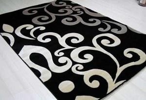 Siyah beyaz halı modelleri
