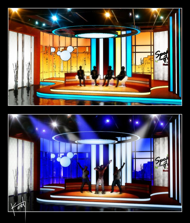 Variety Of Designs For A Spectacular: A Concept Talk Show Designed By Kevin Vickers, Utilizing