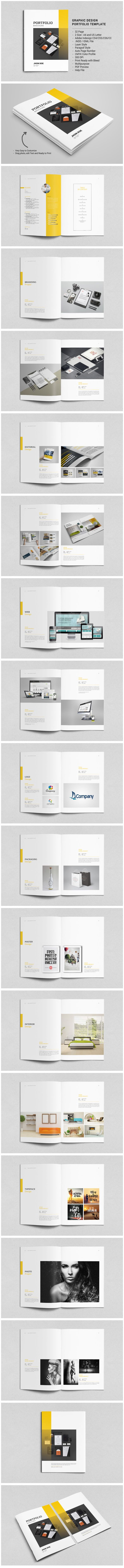"""Check out my @Behance project: """"Graphic Design Portfolio Template"""" https://www.behance.net/gallery/46406667/Graphic-Design-Portfolio-Template"""