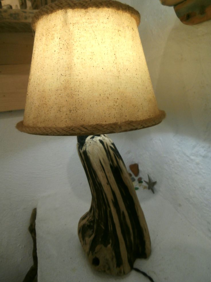Driftwood spalted wood lamp by The Craft-e-Art Company