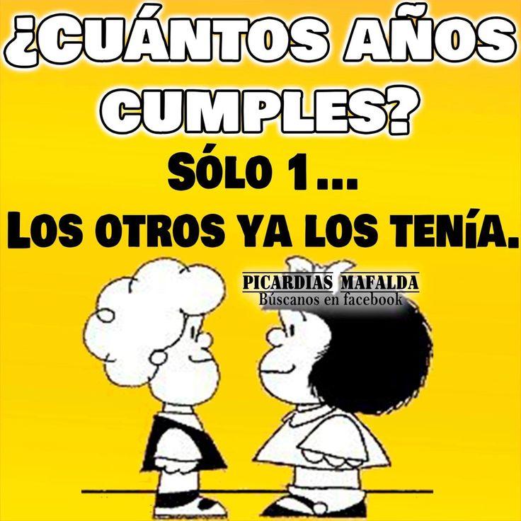 Resultado de imagen para Mafalda frases cumpleaños