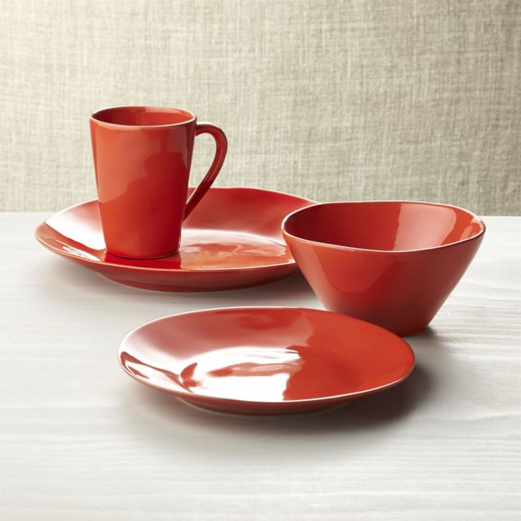 1000 ideas about orange dinnerware on pinterest contemporary dinnerware sets dinnerware sets - Funky flatware sets ...