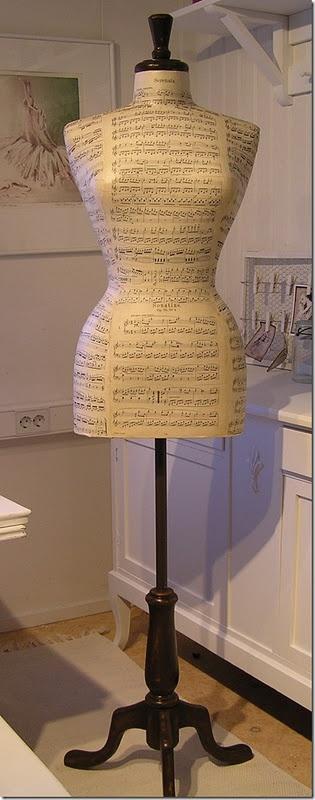 decoupaged dressform