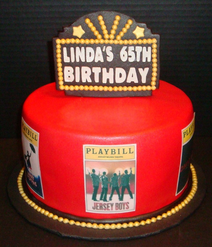 JERSEY BOYS And Broadway Shows Themed Cake
