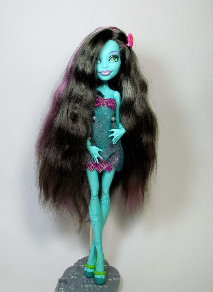 OOAK Monster High Honey Swamp RE-hair with natural wool of angora sheep #Mattel #Dolls