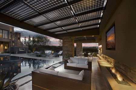 Solar PV patio roof