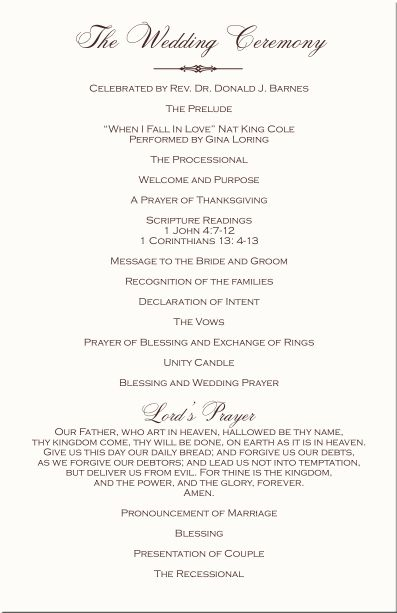 wedding processional order template - 17 b sta id er om program template p pinterest