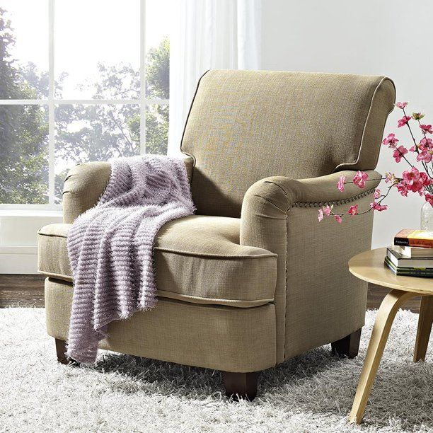 Better Homes And Gardens Rolled Arm Accent Chair Gray
