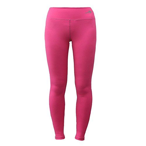 Women's Compression Pants (Pink - L) Best Full Leggings Tights for Running, Yoga, Gym by CompressionZ