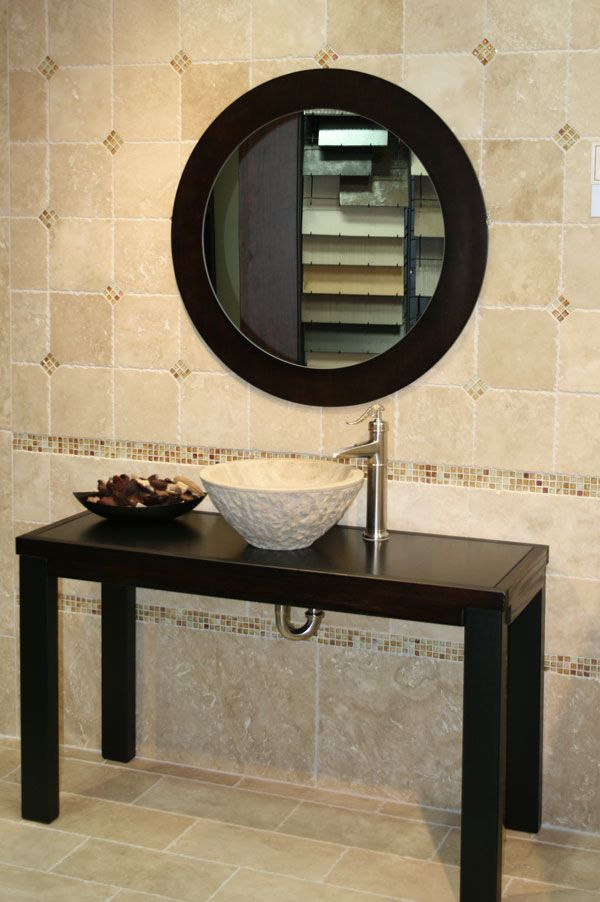 tile border and diamond accents
