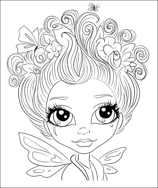 157 best Pretty Girls Coloring Pages images on Pinterest