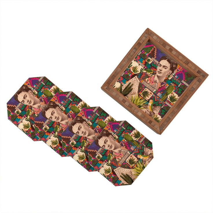 Kris Tate Viva La Vida Coaster Set | DENY Designs Home Accessories
