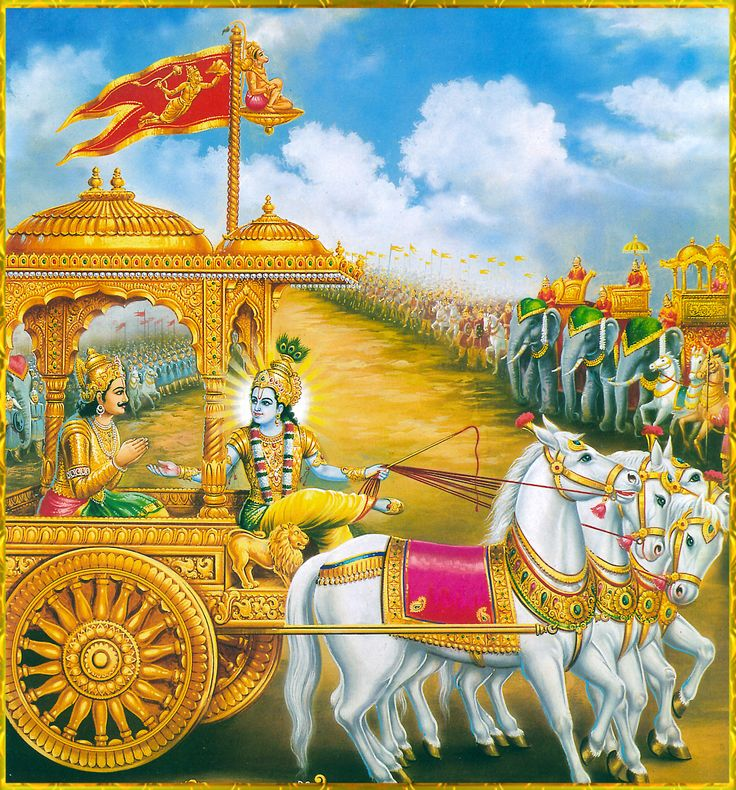 krihna arjun (1,/ 20, 22 23}  O Lord, please stop my chariot between the two armies until I  behold those who stand here eager for the battle and with whom I must engage in this act of war.  I wish to see those who are willing to serve and appease the evil-minded Kauravas by assembling here to fight the battle. THE MINING OF HARIKASH ( हृषीकेशं) attract (charm: )  of arjun goal  the krihna sea true  way .
