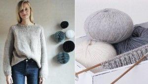 Strikk deg en trendy genser på 1-2-3