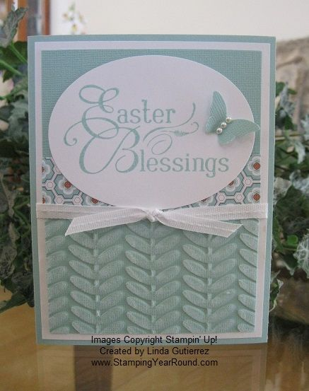 93 best easter religious cards images on pinterest homemade pool party easter blessings using stampin up vine street embossing folder easter ideaseaster craftsgift negle