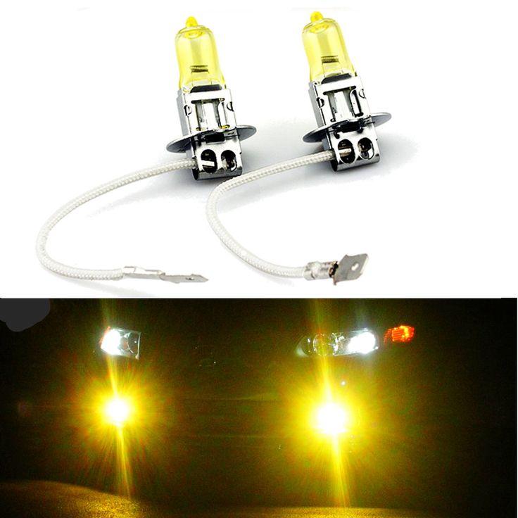 Par de xenón amarilla h3 12v bombillas de los faros de haz 55w bajas para Infiniti G20 90-97
