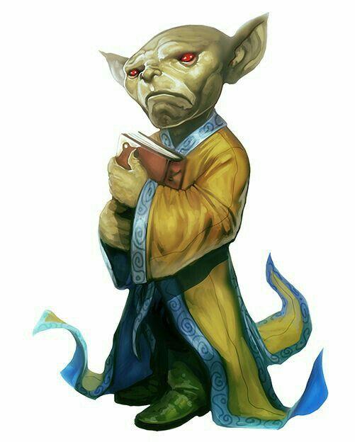 Goblin Wizard - Pathfinder PFRPG DND D&D d20 fantasy
