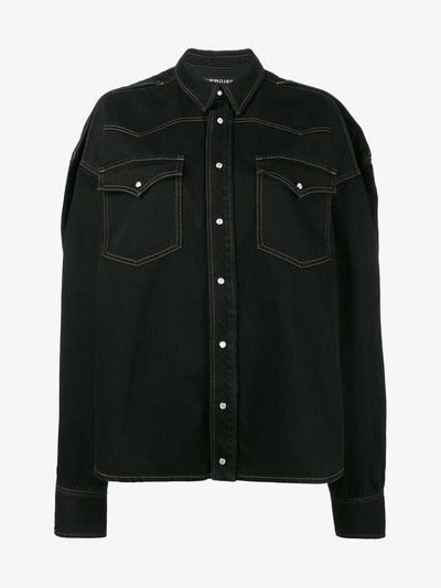 Y / Project oversized denim shirt