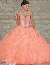 Coral turquiose goedkope jurken 2017 sweetheart bead baljurk jurk vloerlengte vestidos de 15 anos sweet 16 jurken(China (Mainland))