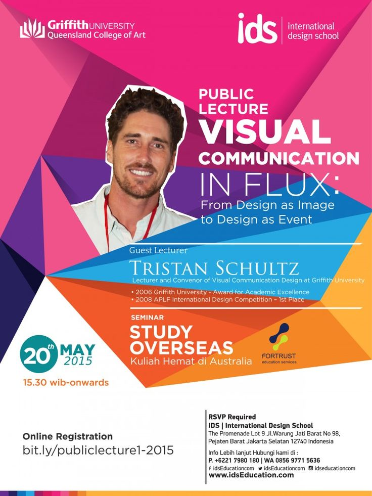 """IDS #PublicLecture : """"Visual Communication in Flux: From Design as Image to Design as Event"""" with Guest Lecturer: Tristan Schultz (Lecturer and Convenor of Visual Communication Design in the Design Futures Program at Griffith University, Australia). 20 Mei 2015 di IDS 