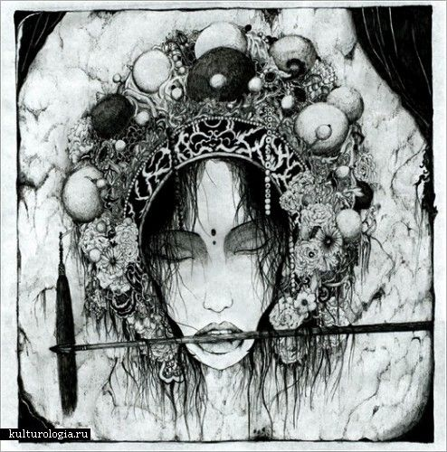 Рисунки чернилами от Timothy Hon Hung