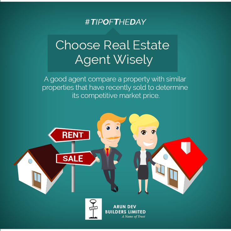 Tip Of The Day Choose Real Estate agent wisely.