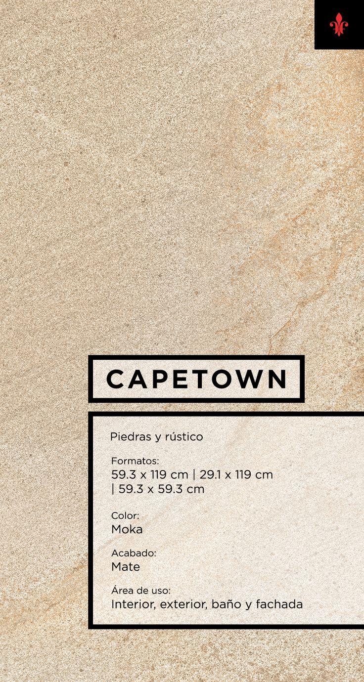El porcelánico Capetown es parte de la colección de piedras y rústicos de Firenze, reviste fachadas tanto clásicas como contemporáneas con la textura natural y porosa de la piedra arenisca.