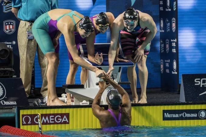 National Team member Katie Meili describes her experience at the Mutual of Omaha Duel in the Pool in December 2015.