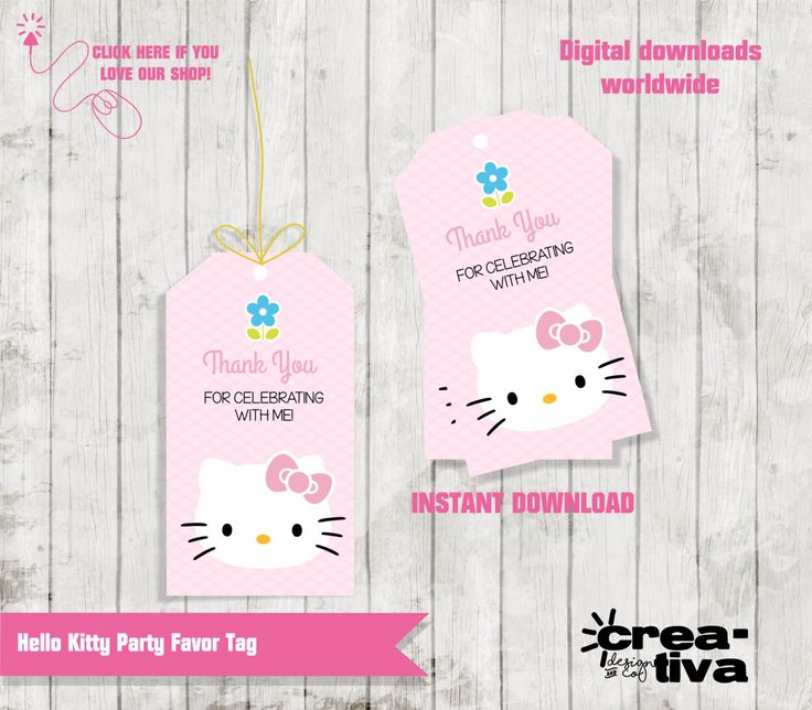 Favor Tags / Hello Kitty Gift Tags / Hello kitty Birthday / Hello Kitty Party / Hello Kitty Printables / INSTANT DOWNLOAD by CreativaDesignCo on Etsy https://www.etsy.com/listing/386518966/favor-tags-hello-kitty-gift-tags-hello