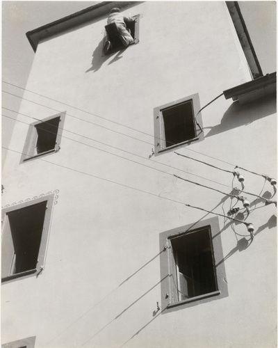 László Moholy-Nagy (American, b. Hungary 1894-1946). Untitled (Decorating work, Switzerland), 1925. Gelatin silver print. 19 15/16 x 15 13/16 in. (50.6 x 40.2 cm). Gilman Collection, Purchase, Robert Rosenkranz Gift.