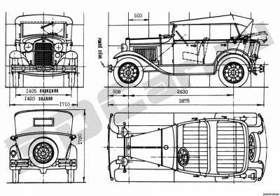 чертеж ретро автомобиля - Поиск в Google